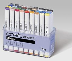 """Zestaw """"BASIC"""", 36 szt. - COPIC Sketch - Markery COPIC"""