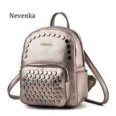 Nevenka Fashion Women Bag Mini School Backpack PU Leather Student Shoulder  Casual Female Backpacks For Preppy Teenagers Girl Sac 94b27c48ccdf7