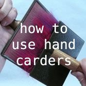 Great information for us as we are about to embark on this! how to use hand carders - free tutorial