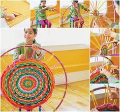 Hula Hoop Rug-http://www.allparenting.com/my-me-time/articles/968857/how-to-make-a-hula-hoop-rag-rug