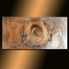 Texture Gold And Silver Metallic Modern Abstract Painting
