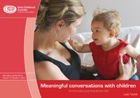 Meaningful conversations with children looks at the 'what', 'why' and 'how' of meaningful conversations with children. It is written as a resource for parents, other family members and educators in early childhood programs. While the settings and relationships for each group are different and bring different opportunities, the basic principles are the same. These can be seen in the guidelines for educators—the Early Years Learning Framework and the National Quality Standard for early…