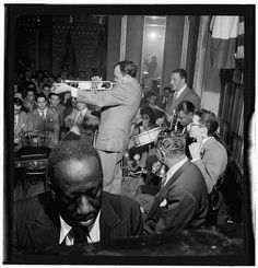 [Portrait of James P. (James Price) Johnson, Marty Marsala, Albert Nicholas, Johnny Windhurst, Sandy Williams, and Danny Alvin, Webster Hall, New York, N.Y., May 9, 1947] (LOC)   Flickr - Photo Sharing!