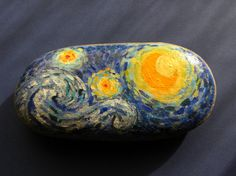 stone art  van gogh Starry Night repro  original by passionARTgr.