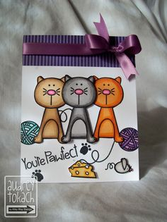 Pink Ink Originals: You're Pawfect {The Alley Way Stamps}