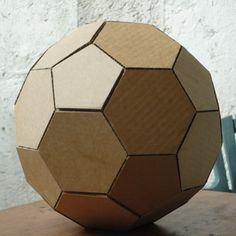 How to make a geodesic dome's scale model with cardboard. Another great model idea for the classroom.