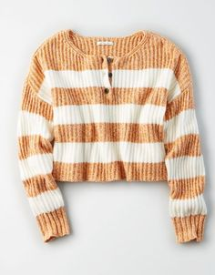 Shop Sweaters & Cardigans for Women at American Eagle. Layer your way in women's sweaters and cardigans, and stay cozy during fall and winter with new sweaters! Shirts For Teens, Outfits For Teens, Fall Outfits, Fashion Outfits, Teen Shirts, Cute Sweaters, Cute Shirts, Women's Shirts, Air Fryer Recipes