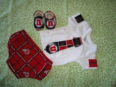3 Piece NCAA Utah Utes Baby Boy Tailgating by doodlesbabylicious, $35.00