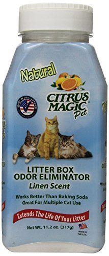 Citrus Magic Litter Box Odor Eliminator Shaker Bottle 112Ounce Linen ** See this great product.