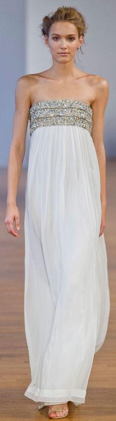 @roressclothes clothing ideas #women fashion white maxi dress Collette Dinnigan at PFW Spring