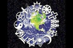 This image is a symbol of all the religions that are found across the world. This image represents that each different culture of beliefs shape our world