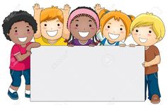 8129502-Kids-with-a-Blank-Board-against-White-Background-Stock-Photo-kids-cartoon-clipart.jpg (1300×821)