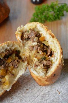 Recette de buns farcis saveurs mexicaines - buns farci viande hachée et paprika - des petits pains à grignoter adorés par les enfants