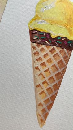 Art Painting Gallery, Food Painting, Diy Painting, Easy Canvas Art, Small Canvas Art, Ice Cream Painting, Guache, Wow Art, Art Drawings Sketches Simple