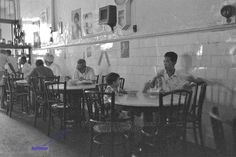 Old kopi tiam - this one in Singapore but similar to Malaysia. Vintage Cafe Design, Work Life Quotes, Old Street, Street Food, Singapore Photos, Photographs And Memories, Cafe Shop, Black And White Portraits, Restaurant Design