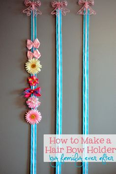 (Hang classroom schedule on it).   Family Ever After....: {Tutorial} How to Make a Bow Holder
