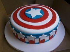 Captain America cake!!