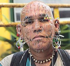 In most Extreme Body Piercing -Scarification