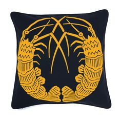 Fine craft maker Nazanin Kamali produces artisanal textile designs deeply rooted in her fascination with cultural mythology./// This intricately hand embroider Quality Furniture, New Furniture, Furniture Design, Contemporary Furniture, Modern Contemporary, Modern Cushions, Embroidered Cushions, Furniture Collection, Soft Furnishings
