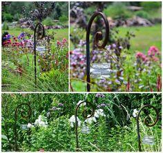 lampion ogrodowy, lampion ze słoika,detal ogrodowy, bukiety, ogród na wsi, ZM, uchwyt do lampionu, zielona metamorfoza