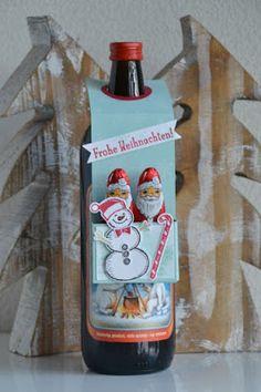 For Christmas Bottles--Flaschenanhänger mit Anleitung