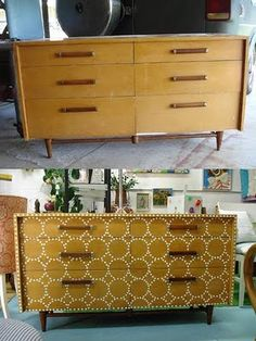 Super-simple but effective before and after with an old dresser.