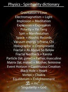 Physics- Spiritual dictionary ❤️☀️