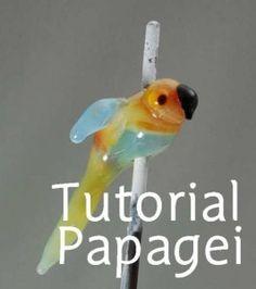 Glasschmuck-Tutorial Papagei Lampwork-Tutorial