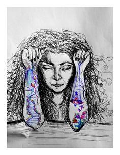 tra sogno e realtà - #penna #draw #arte #sogno #tatoo