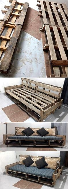 diy wood pallet couch on wheels