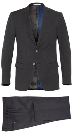 Clothes make the man, as the saying goes. Dark grey suit. Shop here: http://www.vangils.eu/en/suits