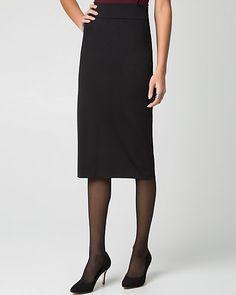 Ponte High Waist Pencil Skirt
