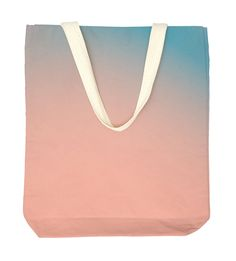 pink & blue tote bag by madeandmarked on Etsy