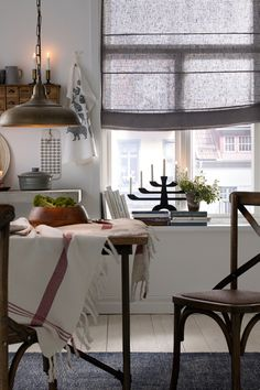 Make your home magical. Swedish House, Swedish Design, House Windows, Modern Kitchen Design, At Home Store, Little Houses, Valance Curtains, Home Kitchens, Sweet Home