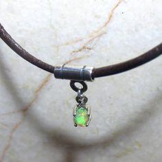 Tiny Opal Drop Pendant Welo Opal Sterling Silver by KJOFineArt, $29.95