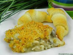 Easy dinners that can be made and frozen.  Chicken rice casserole.