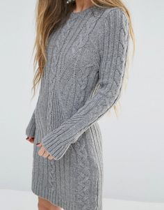 Moon River | Moon River Long Sleeve Sweater Dress