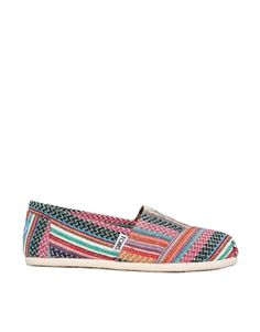 Image 1 of Toms Quilted Weave Flat Shoes
