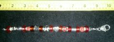 $25.00  Awareness Ribbon Bracelet Red Cancer