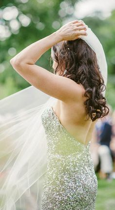 Silver Sequin Wedding Dress