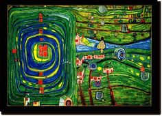 It's a thankless task choosing one single image to represent architect, painter and philosopher Friedensreich Hundertwasser. An incredible thinker and talent, look up his architectural work.