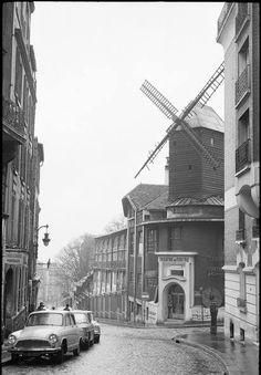 Rue Lepic et Moulin de la Galette.1963