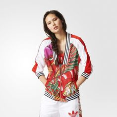 Women's Clothing and Athletic Apparel in Brand:adidas, Size:S Tracksuit Jacket, Tracksuit Tops, Adidas Official, Dragon Print, Tops For Leggings, Sporty Chic, Rita Ora, Look Fashion