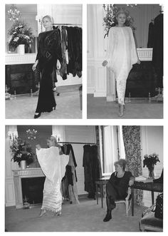 Buyers meetings for Charles and Patricia Lester in Paris SS98 #FashionWeek #Couture
