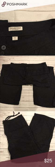 Coldwater creek black Linen Pants size 14 Coldwater creek black Linen Pants size 14 Coldwater Creek Pants Trousers