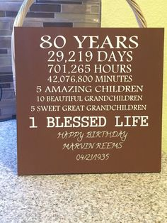 80 years old sign                                                                                                                                                      More