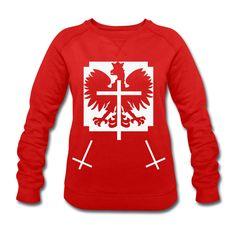Polska Triple Crucifix Sweater Women (*Weiß Glitzer*) - Frauen Sweatshirt von Stanley & Stella