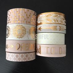 """18""""/24"""" SAMPLES of Recollections boho bohemien pink washi tape (M137) by WashiFul on Etsy https://www.etsy.com/listing/505300157/1824-samples-of-recollections-boho"""