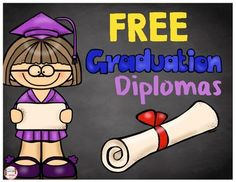 FREE Graduation diplomas for kindergarten, Pre-K and Preschool - just print and customize for an adorable touch to your ceremony! Pre K Graduation, Kindergarten Graduation, Pre Kindergarten, Graduation Ideas, End Of School Year, Pre School, Preschool Worksheets, Teacher Pay Teachers, Lesson Plans