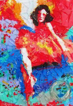 """Saatchi Art Artist Raquel Sarangello; Collage, """"DANCER"""" #art"""